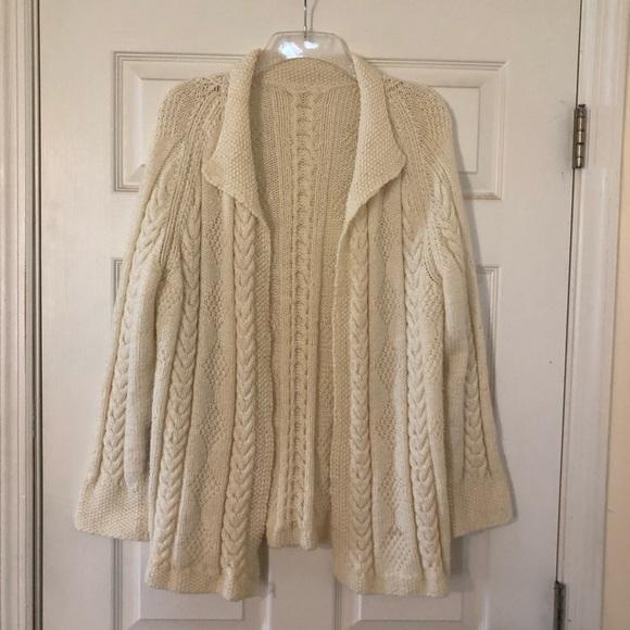 Sweaters - Beautiful Handknit Open Front Cardigan